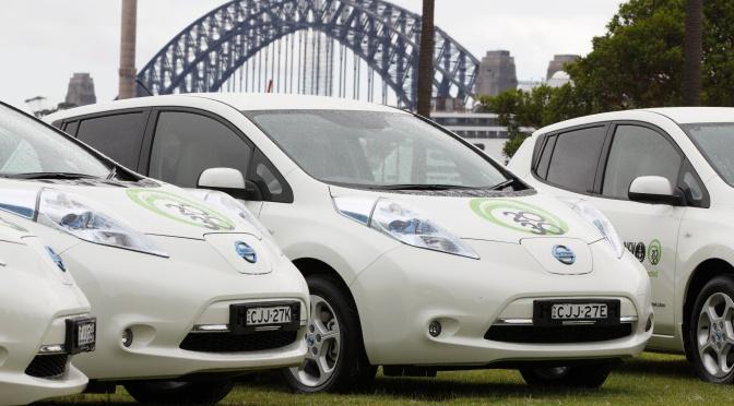 Nissan LEAF joins the ranks of Sydneysiders