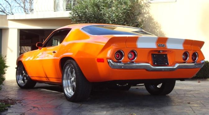 The V8 orange