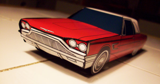 Blog_Paper_Toy_papercraft_Ford_Thunderbird_Jcarwil