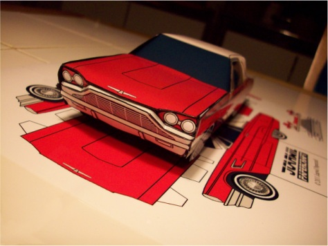 Blog_Paper_Toy_papercraft_Ford_Thunderbird_Jcarwil_pic2