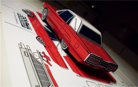 Blog_Paper_Toy_papercraft_Ford_Thunderbird_Jcarwil_pic3