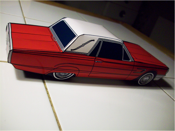 Blog_Paper_Toy_papercraft_Ford_Thunderbird_Jcarwil_pic5