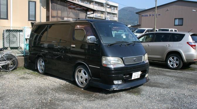 Tuned vans in Japan