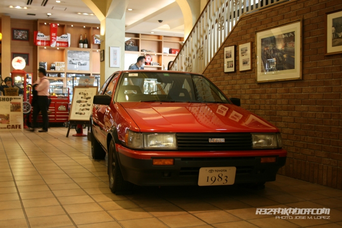 Visiting the Toyota Historical Garage. Tokyo.